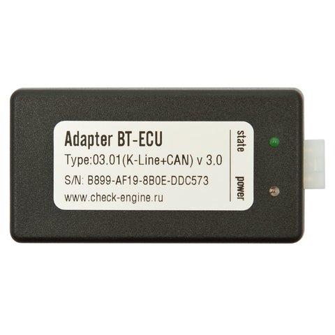 Bluetooth-адаптер BT-ECU K-Line+CAN для программы диагностики автомобиля Check Engine + Кабель OBD-II Прев'ю 1