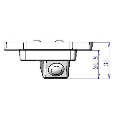 Автомобильная камера заднего вида для Toyota Land Cruiser Prado Превью 3