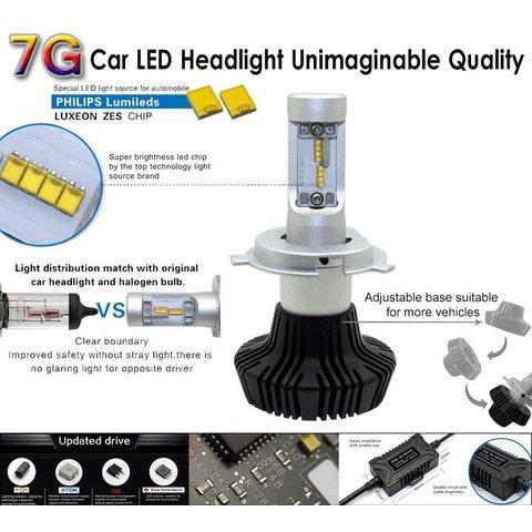 Набір світлодіодного головного світла UP-7HL-H1W-4000Lm (H1, 4000 лм, холодний білий) Прев'ю 2