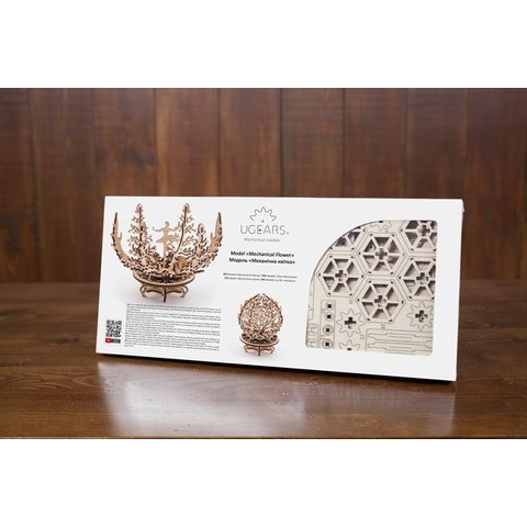 Mechanical 3D Puzzle UGEARS Flower-etui Preview 6